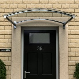 Ordinaire Curved Polycarbonate Door Canopy Type: A