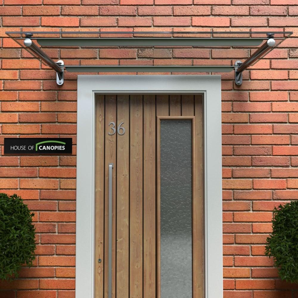 Glass Door Canopy Metal Frame & Rails TYPE: C