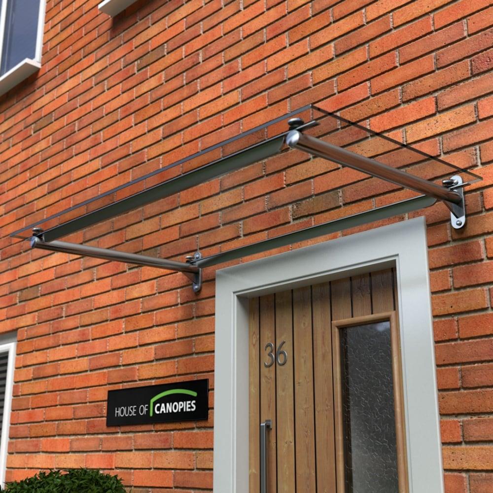 Glass Door Canopy Metal Frame Rails Type C