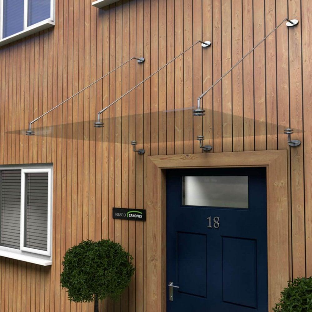 Glass Door Canopy With Tie Rods